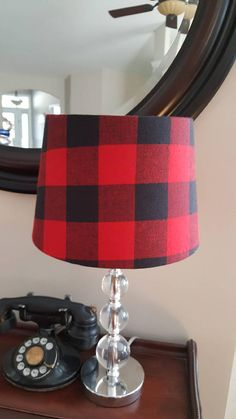 Lamp shade made with Buffalo plaid. Shade size is 8x10x7. That is 8 top diameter, 10 bottom diameter and 7 height. Perfect for nursery desk or bedroom. Matching night light also available. International buyers please convo me for shipping cost. Were on the cover of Beverly Hills