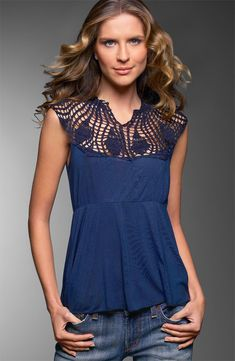 Crochet & Fabric Top
