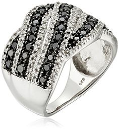 Sterling Silver with White and Black Diamond Fashion Ring... http://www.amazon.com/dp/B00YXFU0EY/ref=cm_sw_r_pi_dp_sd6fxb13WGPFT