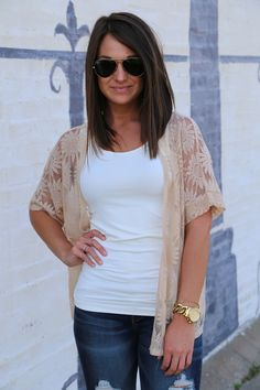 Sunflower Lace Cardigan from Shop the Rage