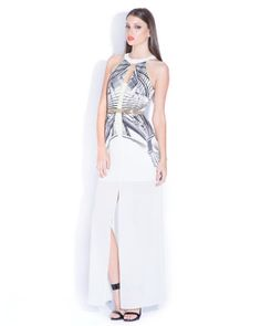 Lumier by Bariano Printed Maxi Dress