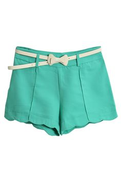 Turquoise shorts. I love the colour. I'd wear these with a peach or coral jersey top or blouse