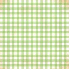 Green Gingham -- Thank you to Erin Peters for getting me thinking about green gingham! :)