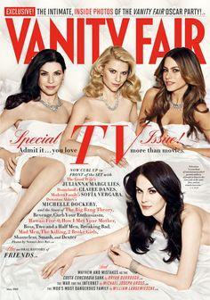Julianna Margulies, Claire Danes, Sofia Vergara & Michelle Dockery comparten la (cama) portada del VANITY FAIR