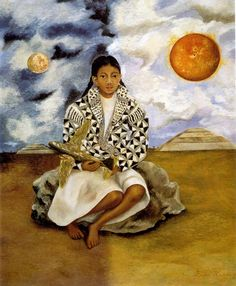 Portrait of Lucha Maria A Girl from Tehuacan - by Frida Kahlo