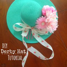 How-To DIY Kentucky Derby Hat Tutorial