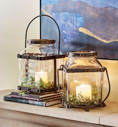 Con velas de led es un conjunto agradable y seguro....