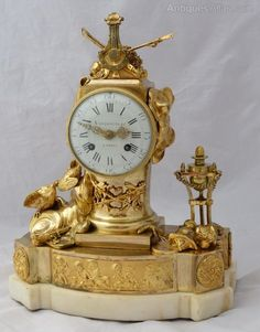 Antiques Atlas - Important Century Vandercruse Mantel Clock Antique Mantel Clocks, Mantle Clock, French Clock, Classic Clocks, Baroque, Rococo, Home Interior, French Antiques, 18th Century
