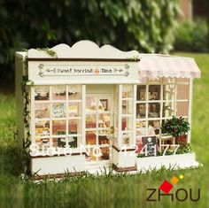 Precious Forest Time with Dust Proof Cover Bayin Dollhouse Kit DIY Furniture Wooden Miniature Doll House Creative Room Gift
