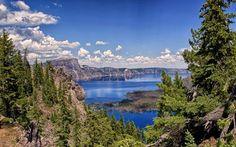 Scarica sfondi crater lake, montagne, vulcano, sky, rocce, usa