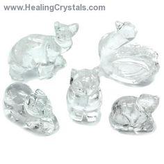 Clear Quartz Carved Animal Assortment #2- Clear Quartz - Healing Crystals