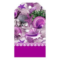 Seashell Purple Passion Gift Tags