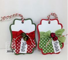 The Alley Way Stamps~ Be Inspired #18~ Christmas Gift Tags w/ Fa-la-la  ~Jessica