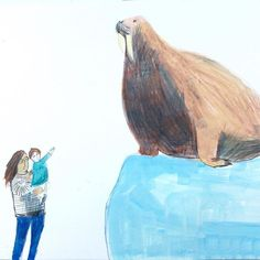 We went to see the walrus. Cool Artwork, Museum, London, Photo And Video, Drawings, Illustration, Artist, Painting, Inspiration