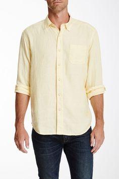 7e5dea8f02 Details about Tommy Bahama Easy Breezer Linen L/S Button Up Shirt MENS LARGE  Green TR309