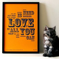 All You Need Is Love Beatles Letterpress Print