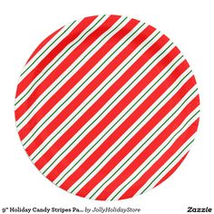 9  Holiday Candy Stripes Party Paper Plate  sc 1 st  Pinterest & Christmas party sets paper plate | Christmas parties Parties and Paper