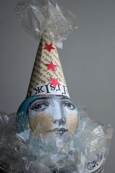 SaNdra EveRtson art doll, mixed media
