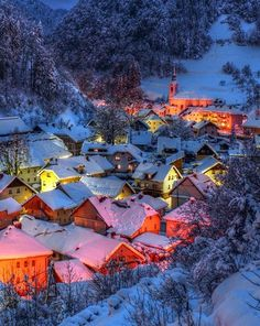 Village in Swiss Alps