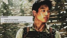 This is The Maze Runner, but sassy Minho is cute.