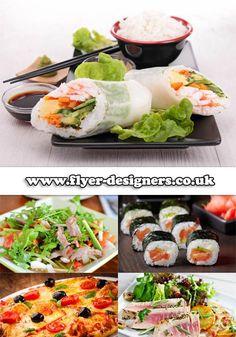 sushi images suitable for sushi restaurant flyer www.flyer-designers.co.uk #sushi #sushiflyers #flyerdesign