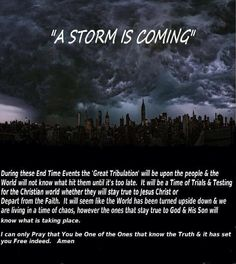 """We as Jehovah's witnesses' have been preaching & teaching people to learn how they can survive this """"Great Tribulation. For at least the last 100 years."""