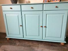 Oude Ikea kast geverfd met Flexa Vintage blue Decor, Furniture, House, Ikea Hack, Cabinet, Ikea, Master Bedroom, Home Decor, Storage