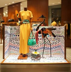 "Hermès, Doha, Qatar, Asia, ""Do Birds of a Feather Flock Together?"", pinned by Ton van der Veer"