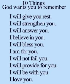 10 things God wants you to know..