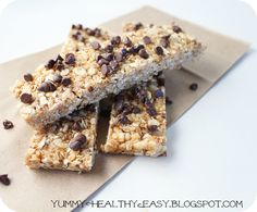 Granola bars (no bake)