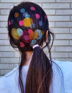 Graffiti Hair Une Tendance Reperee Sur Instagram Tendances Coiffures Coiffure Originale Art Capillaire