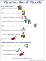 "Printable ""Clean Your Room!"" Checklist for Kids (with visual hints for preschoolers)"