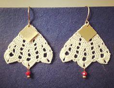 Handmade Vintage Inspired Crocheted Earrings by Littlestuds