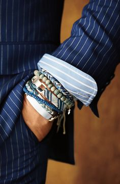 In the details: Ralph Lauren Men's Accessories, I love the seek and peek of the bracelets!!!
