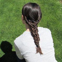 three weave fishtail braid from trenzasymastrenzas