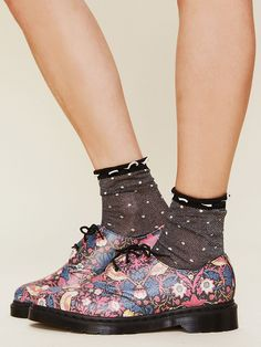 Free People Liberty London for Doc Martens Floral Printed Gibson Oxford, $210.00