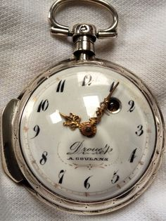 """MINT"" FRENCH - Beautiful Georgian Verge Watch. Late *1700s* - (WORKING) #verge"