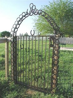metal arch made of horseshoes - Google Search