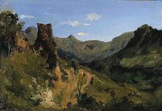 Valley in the Auvergne Mountains - Theodore Rousseau