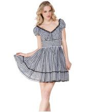 Gingham makes me happy. Betsey Johnson voile dress.