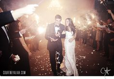 Wedding - Sparklers Exit -Courtney Aliah Photography
