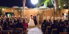 Beautiful Evening Wedding Ceremony at the Zoo | Jacksonville Zoo and Gardens | ©Favorite Photography