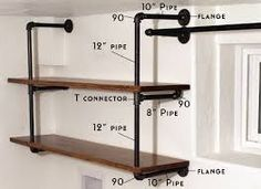 diy industrial pipe product displays - Google Search
