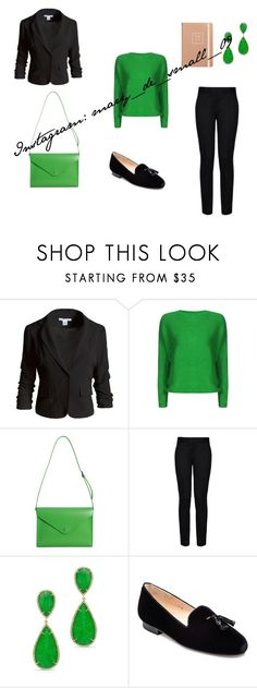 New green by mary-de-small on Polyvore featuring мода, Sans Souci, STELLA McCARTNEY, Jon Josef, Paperthinks and Anne Sisteron