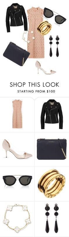 """""""Untitled #44"""" by theunknownqueenoffashion on Polyvore featuring Zara, Maje, Sandro, CÉLINE, Bulgari and Givenchy"""