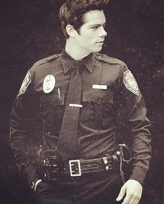 Dylan O'Brien in a uniform mmmm