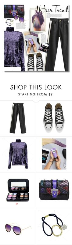 """Matchy-Matchy Hair"" by beebeely-look ❤ liked on Polyvore featuring beauty, Converse, L'Oréal Paris, Paula Cademartori, Anja, hairtrend, casual, rainbowhair, twinkledeals and valvet"