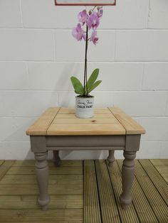 Solid Pine Coffee Table painted with Annie Sloan Coco Chalk Paint