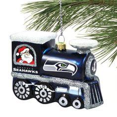 Seattle Seahawks Train Ornament - College Navy