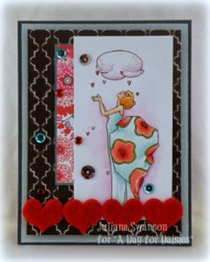 Stampin with Inky Fingers: Love Like Rain From Above #ADFD #ADayForDaisies